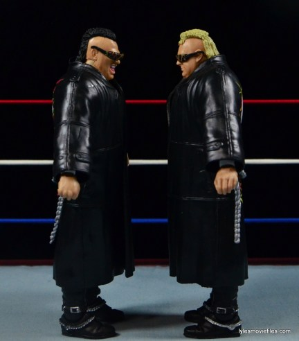 WWE Nasty Boys Elite 42 -facing each other