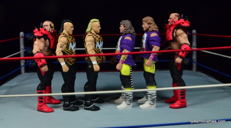 WWE Nasty Boys Elite 42 - scale with Legion of Doom and The Rockers