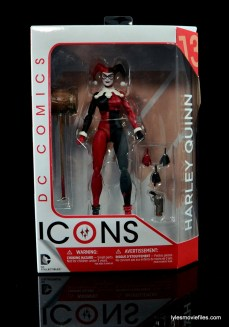 DC Icons Harley Quinn figure review - front package