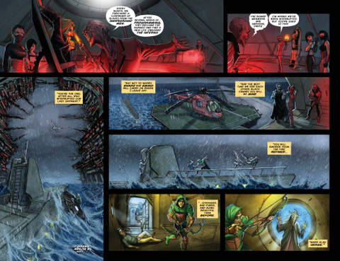 Green Arrow #5 review Inferno - pages 2-3
