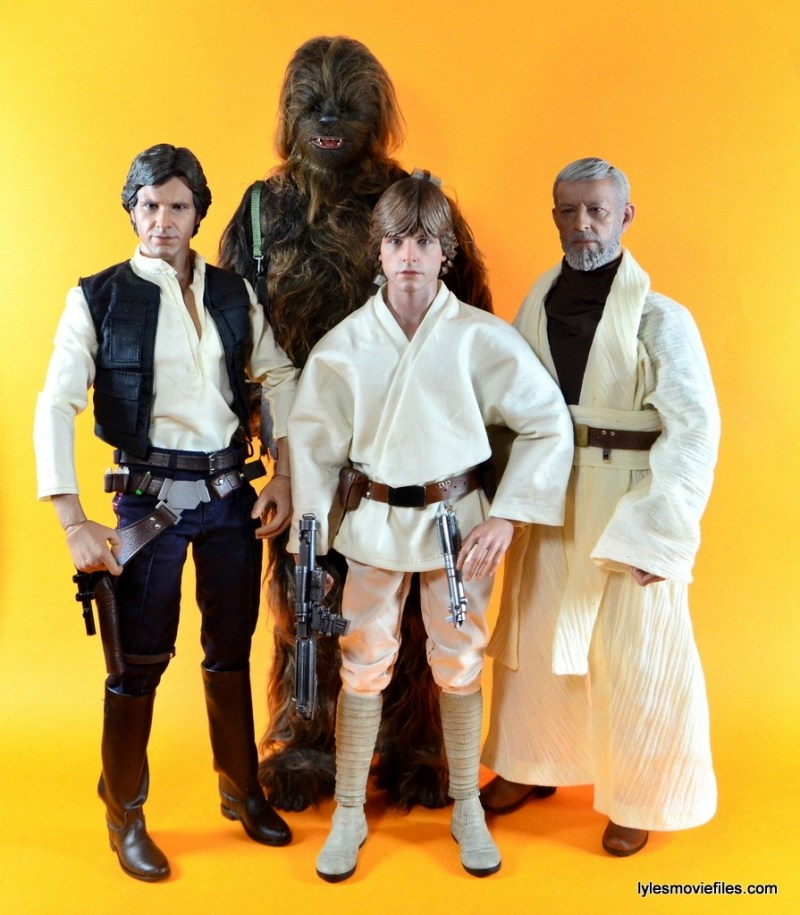 Hot Toys Luke Skywalker figure review -with Han Solo, Chewbacca and Obi-Wan
