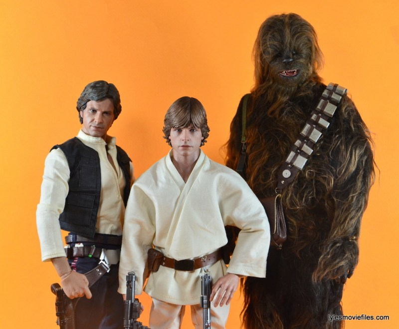 Hot Toys Luke Skywalker figure review -with Han Solo and Chewbacca