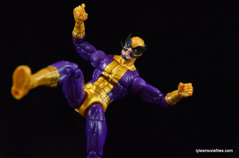 Marvel Legends Batroc figure review -lifting boot up