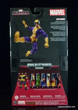Marvel Legends Batroc figure review -package rear