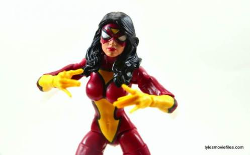Marvel Legends Spider-Woman figure review - close