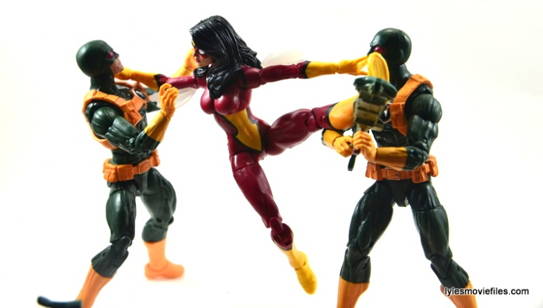 Marvel Legends Spider-Woman figure review - fighting Hydra