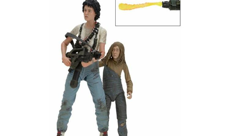 NECA Aliens Ripley and Newt pack - loose