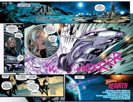Supergirl Rebirth #1 review pages 2-3