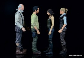 The Walking Dead Maggie Green figure McFarlane Toys -with Herschel, Glenn and Andrea
