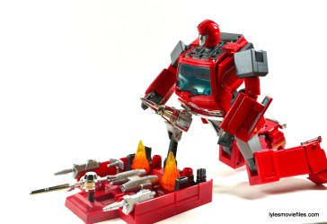 Transformers Masterpiece Ironhide figure review -at attack sled