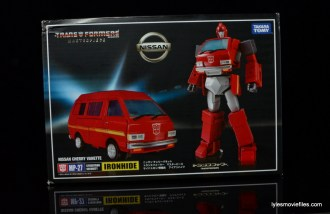 Transformers Masterpiece Ironhide figure review -package front