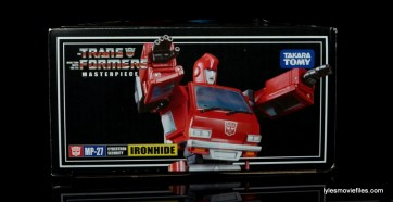 Transformers Masterpiece Ironhide figure review -package