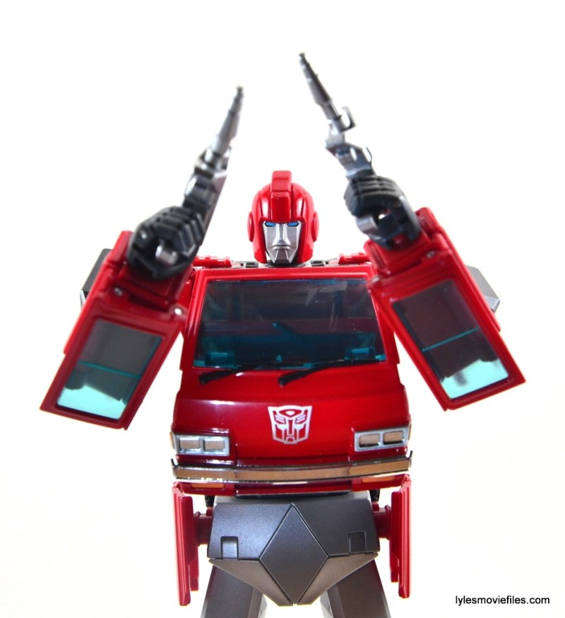 Transformers Masterpiece Ironhide figure review - raised pistols