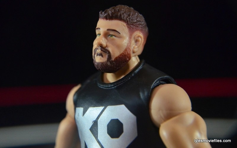 WWE Elite 43 Kevin Owens figure review - beard detail