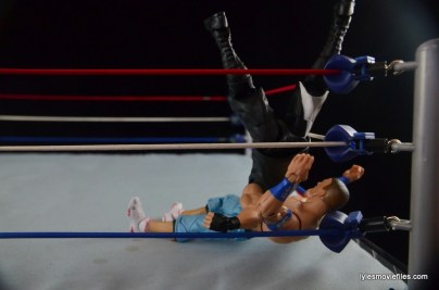 WWE Elite 43 Kevin Owens figure review - rolling senton in corner