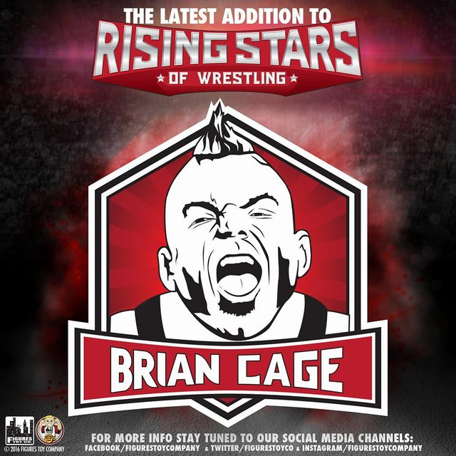 Brian Cage Rising Stars of Wrestling Action Figures Series