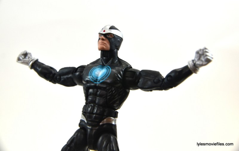 Marvel Legends Havok figure review -arms out