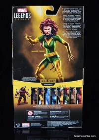 Marvel Legends Phoenix figure review -package rear