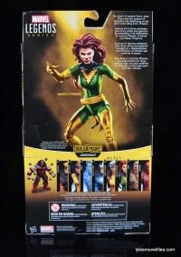 Marvel Legends Phoenix figure review -package rear