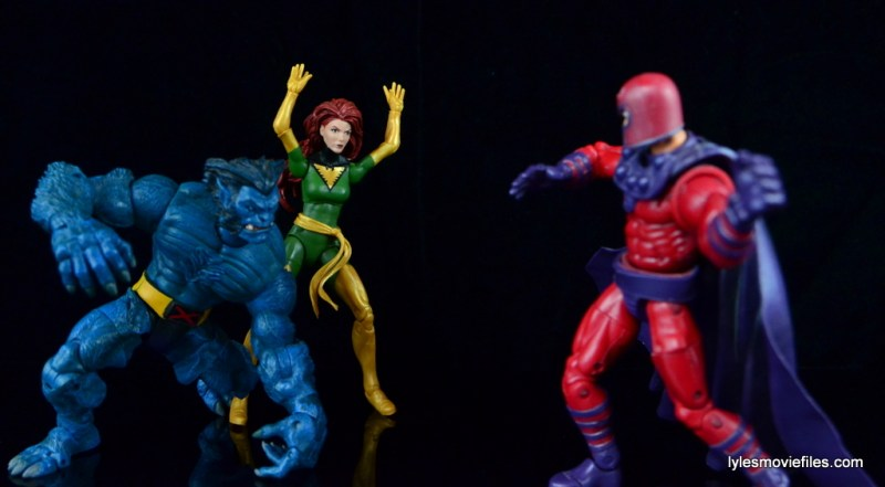 Marvel Legends Phoenix figure review - with Beast vs Magneto