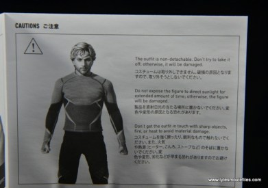 Hot Toys Quicksilver figure review - instructions 2