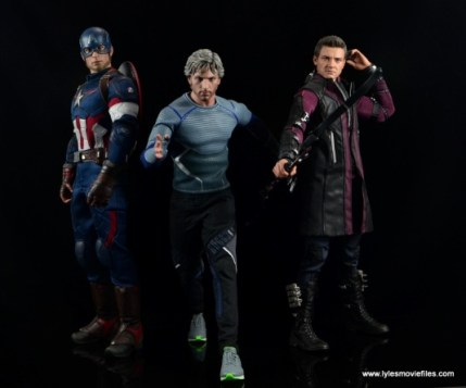 Hot Toys Quicksilver figure review - with Captain America and Hawkeye