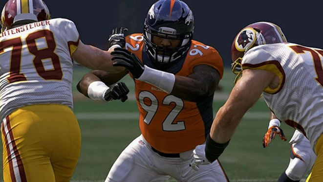 madden nfl 17 broncos-busting-through