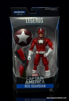 Marvel Legends Red Guardian figure review - front package