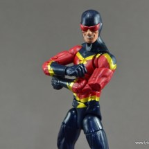 Marvel Legends Speed Demon figure review - arms folding
