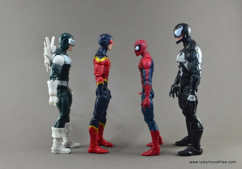 Marvel Legends Speed Demon figure review - scale to Boomerang, Spider-Man and Venom