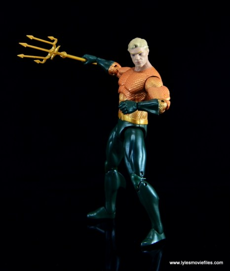 DC Icons Aquaman figure review - about to strike with trident