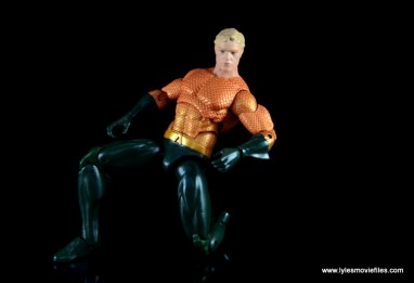 DC Icons Aquaman figure review - on one knee