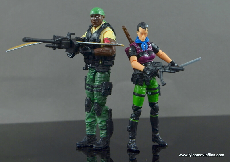 GI Joe Heavy Conflict Heavy Duty and Stiletto figure review - Heavy Duty and Stiletto main
