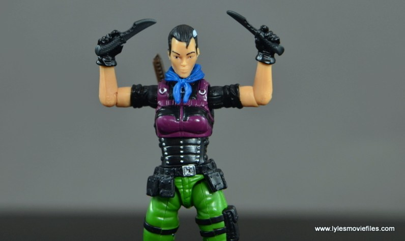 GI Joe Heavy Conflict Heavy Duty and Stiletto figure review - Stiletto raising knives