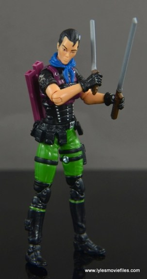 GI Joe Heavy Conflict Heavy Duty and Stiletto figure review - Stiletto with swords close