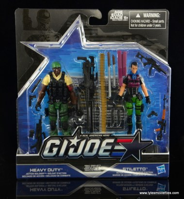 GI Joe Heavy Conflict Heavy Duty and Stiletto figure review - front package