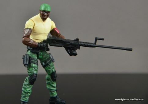 GI Joe Heavy Conflict Heavy Duty and Stiletto figure review - holding machine gun