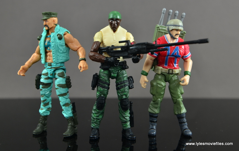 GI Joe Heavy Conflict Heavy Duty and Stiletto figure review - scale with Gung-Ho and Bazooka