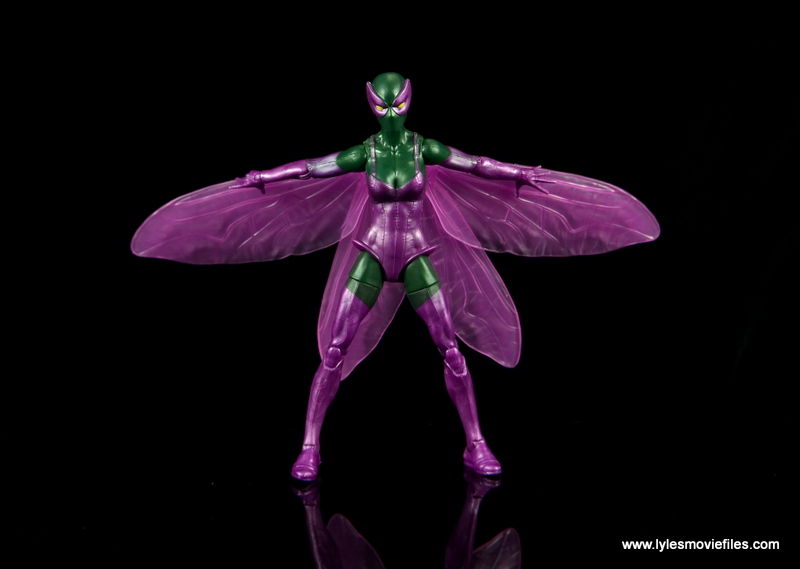 Marvel Legends Beetle figure review -arms and wings wide