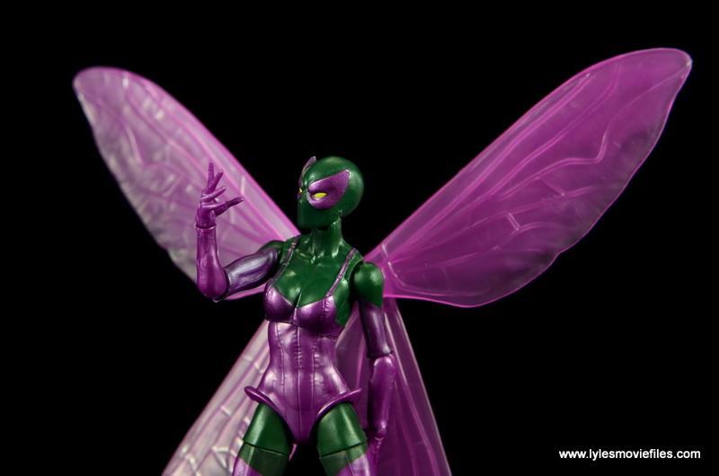 Marvel Legends Beetle figure review -hand up