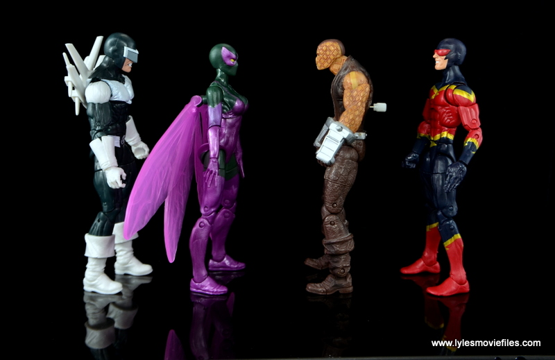 Marvel Legends Beetle figure review -scale with Boomerang, Shocker and Speed Demon