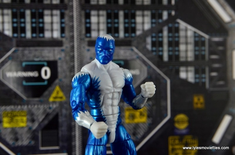 Marvel Legends Blizzard figure review - at the base