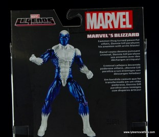 Marvel Legends Blizzard figure review -bio