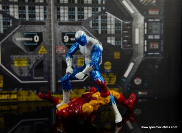 Marvel Legends Blizzard figure review - over Iron Man