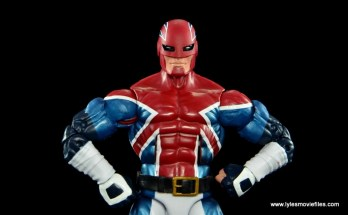 Marvel Legends Captain Britain figure review - hands on hips