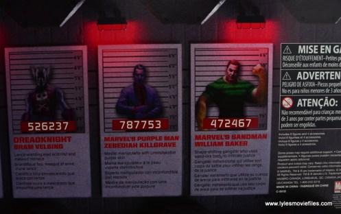Marvel Legends The Raft figure review Dreadknight, Purple Man and Sandman bios
