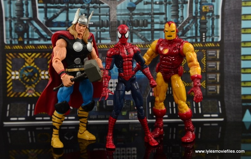 Marvel Legends The Raft figure review Spider-Man scale with Thor and Iron Man