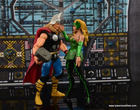 Marvel Legends The Raft figure review The Enchantress seducing Thor