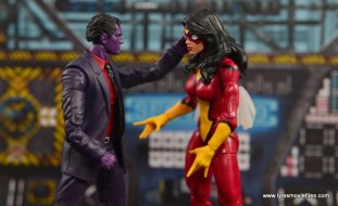 Marvel Legends The Raft figure review - The Purple Man controlling Spider-Woman
