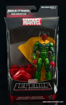 Marvel Legends Vision figure review - front package